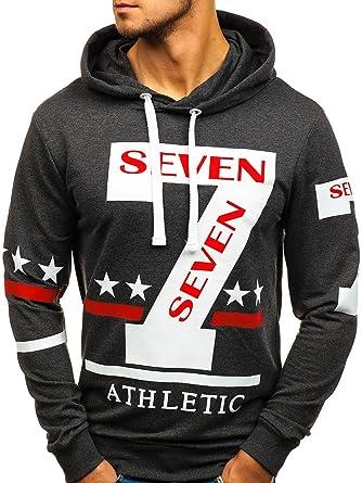 Herren Kapuzenpullover Sweatshirt Hoodie Langarmshirt Pullover BOLF 1A1 Motiv