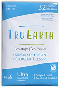Tru Earth Eco-Strips Laundry Detergent (Fresh Linen) - Eco-friendly Ultra Concentrated Laundry Strips