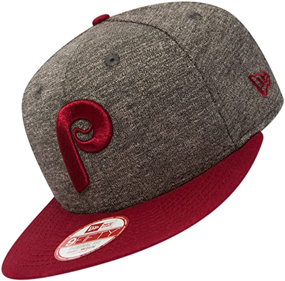 7aee2698b63 New Era 9FIFTY Philadelphia Phillies Snapback Cap - Jersey Mix - Grey-Red  Small Medium  Amazon.co.uk  Clothing