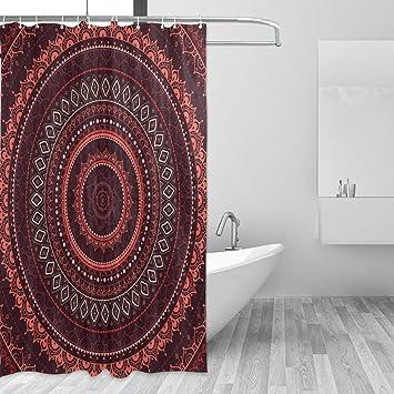 Rideaux de douche étanche résistant aux moisissures indien Madala ...
