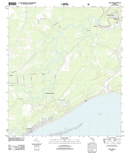 Florida Topographic Map.Amazon Com Florida Maps 2012 Mcintyre Fl Usgs Historical