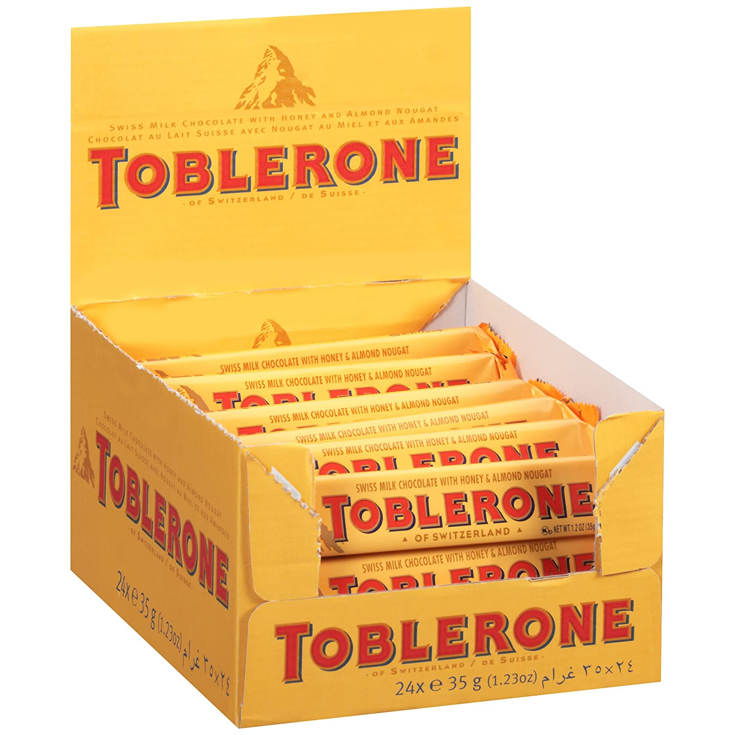 Amazon.com : Toblerone, Milk, 1.23-Ounce (Pack of 24) : Candy And ...
