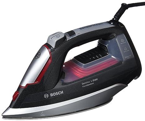 Bosch (SDA) TDI953222V Plancha de Vapor Motor de Inyección, Tecnología Variocomfort, Supervapor de 230 g, 3200 W, Negro y Rojo