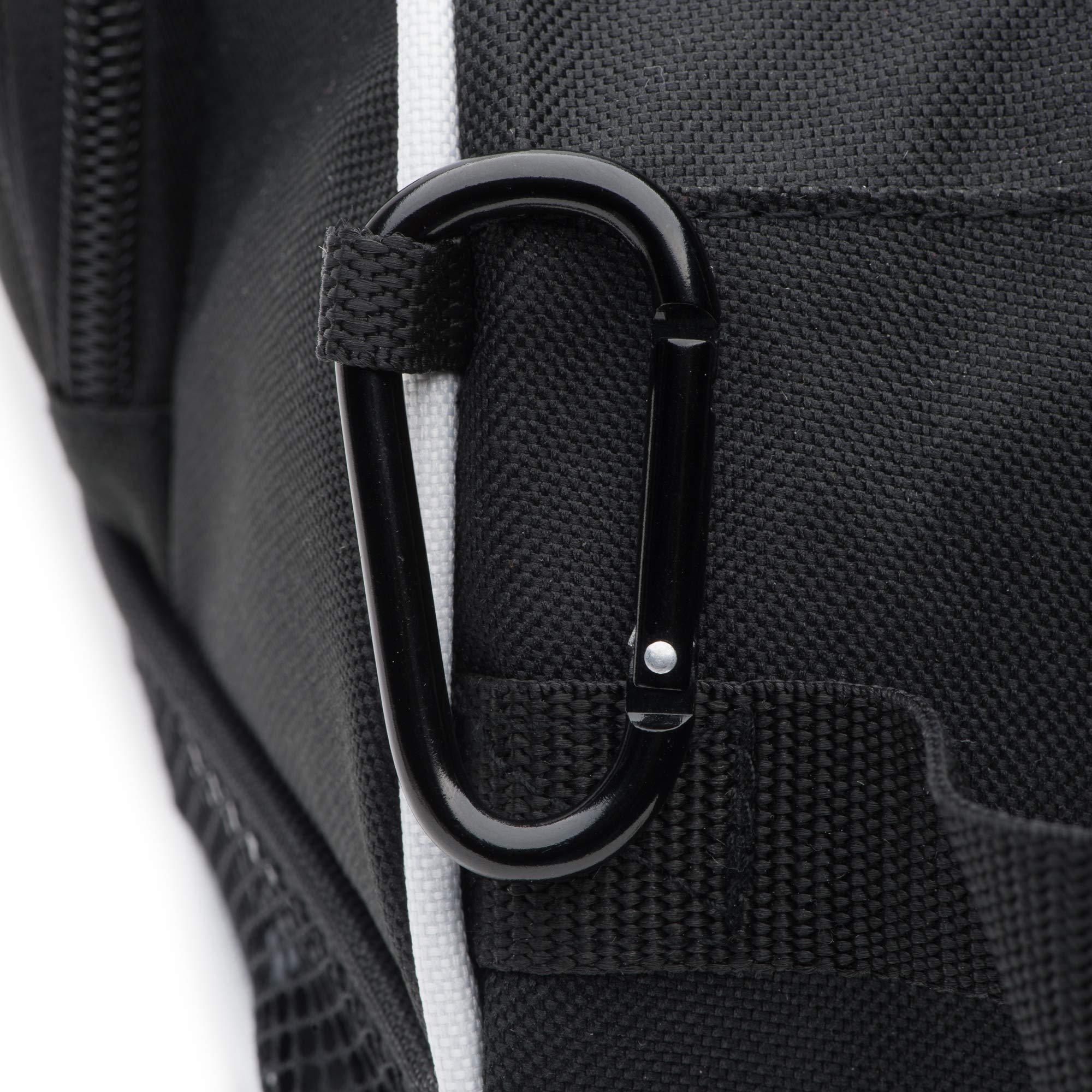 DesignWorks Golf Shoe Bag Tote for Men and Women, Hanging Clip and Large Zippered Side-Pockets, includes Golf Accessories Bonus by DesignWorks (Image #7)