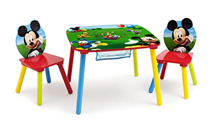 Amazon.com: Disney Mickey Mouse Storage Table and Chairs Set by ...