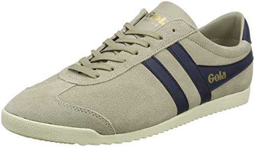 Mens Bullet Suede Indian Stone/Navy Trainers Gola gT4aj1Ha