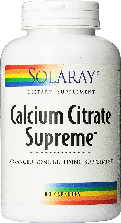 Solaray Calcium Citrate Supreme Capsules, 800mg, 180 Count
