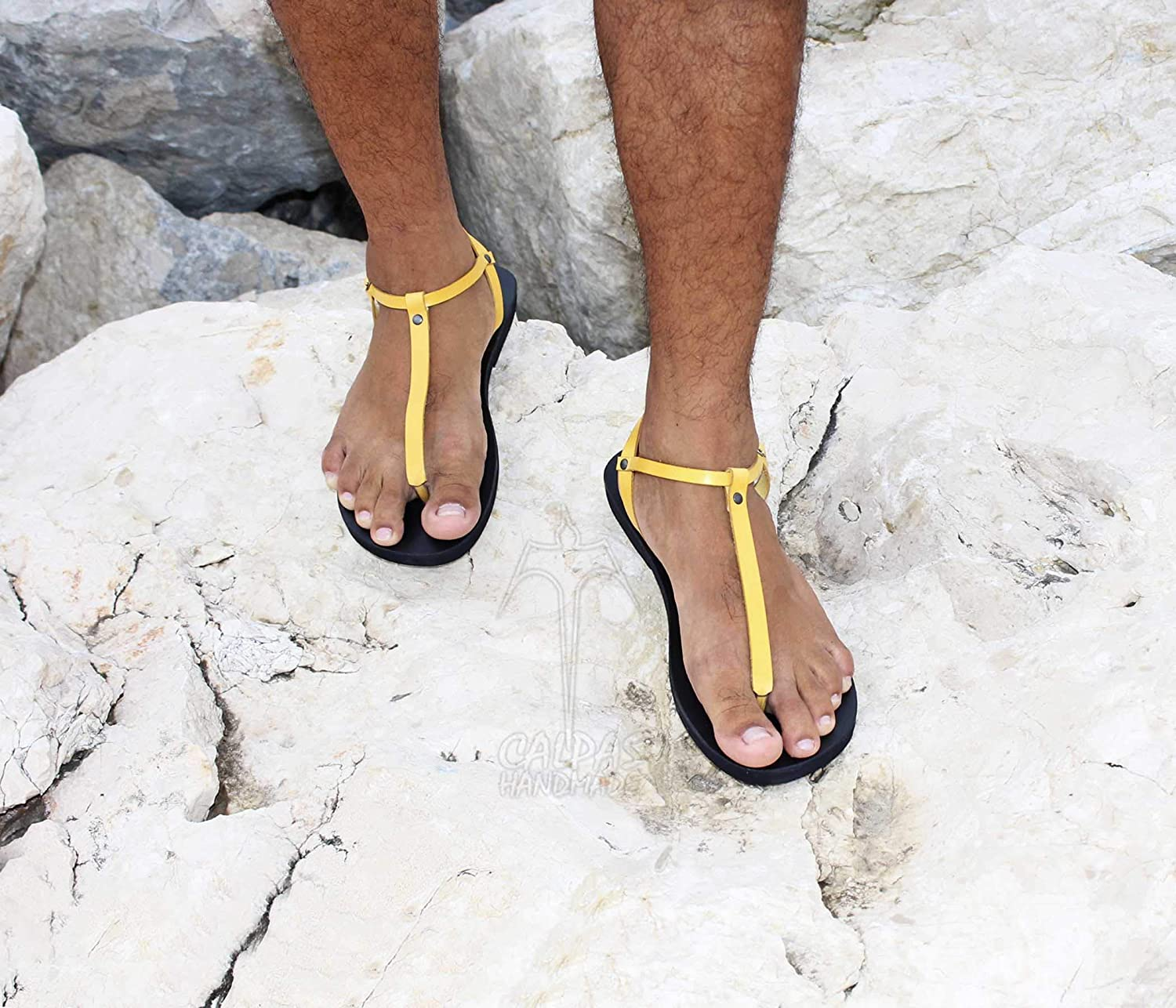 358c8be5533ba Amazon.com: Sexy Men Thong Leather Sandals Barefoot Roman Style ...
