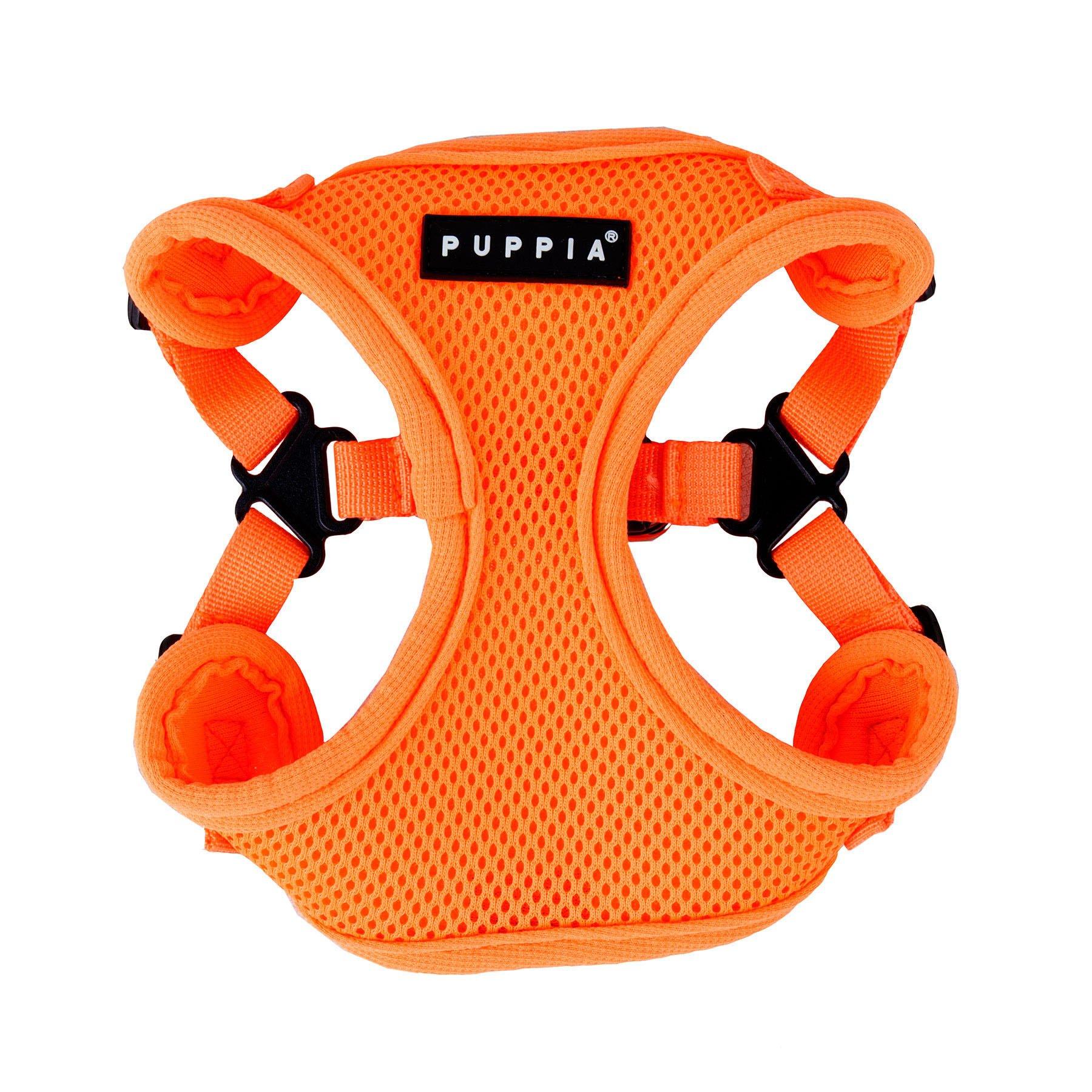Puppia Authentic Neon Soft Harness C, Large, Orange
