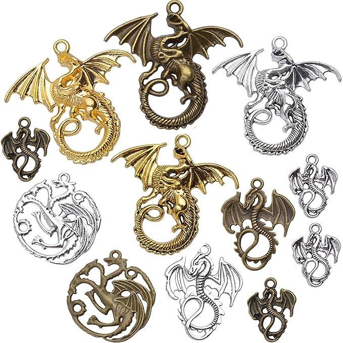60//150Pcs Retro style dragonfly Charm Pendant DIY Jewellery crafts 17X13mm