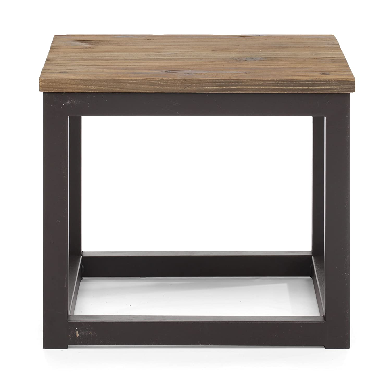 Amazon Zuo Modern Civic Center Side Table Distressed Natural
