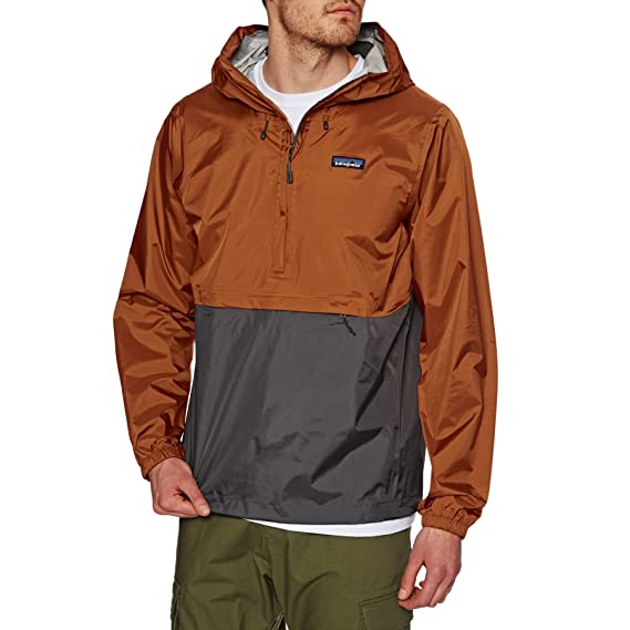 f0d745e0408eb Patagonia Torrentshell Pullover Jacket Copper Ore Forge Grey Orange S