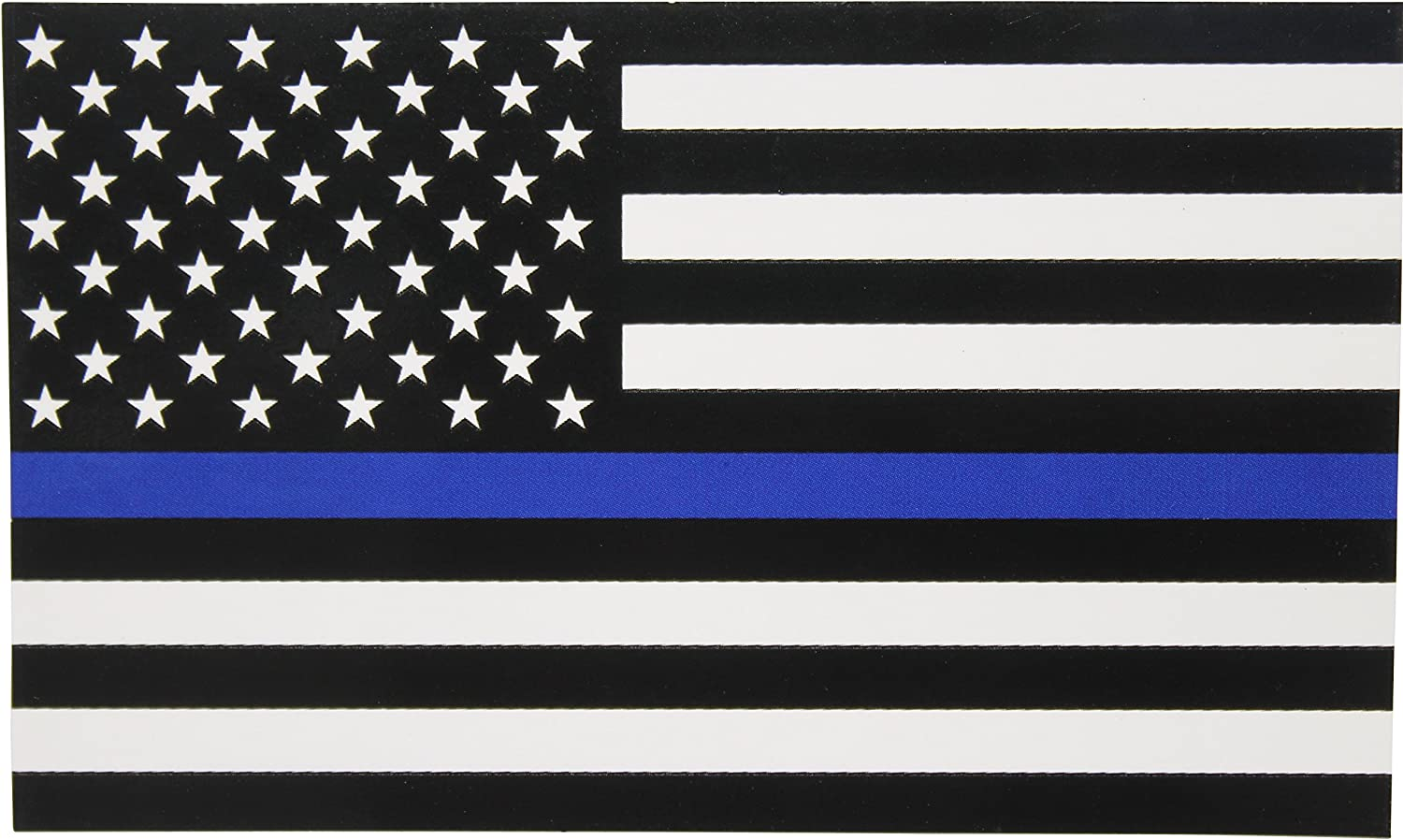 Thin Blue Line Flag Decal - 3x5 in. Black White and Blue American Flag Sticker for Cars and Trucks - in Support of Police and Law Enforcement Officers (1)
