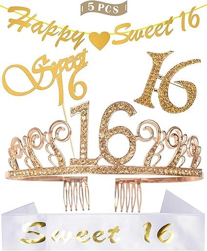 Amazon.com: Decoración de cumpleaños para fiestas de 16 ...