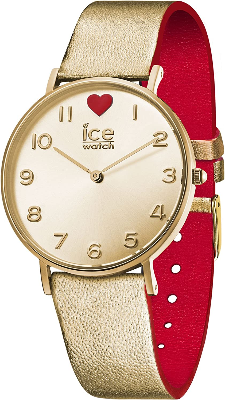 Ice-Watch - ICE love 2017 City - Reloj oro para Mujer con Correa de cuero - 013376 (Small)