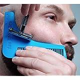 Beard Bro, pettine per barba, set di attrezzi per modellare per linee e simmetria perfetta