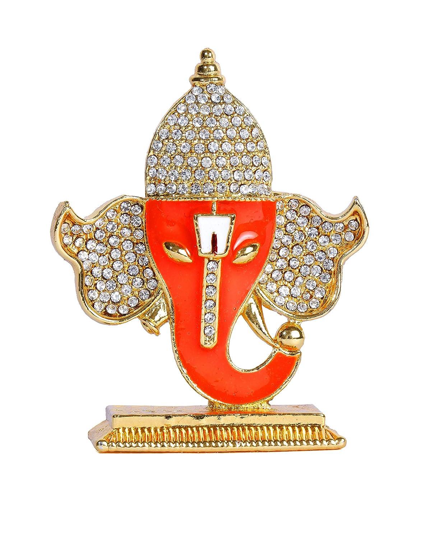 Dmt Ganesha Gold Silver Plated Idol For Car Dashboard Ganesh