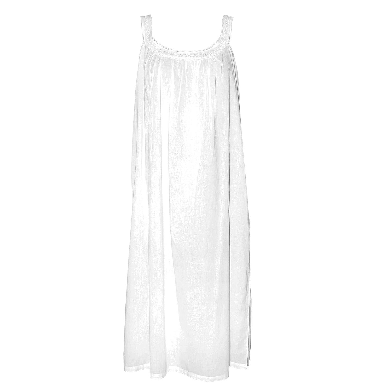 The Irish Linen Store Lily Nightgown White L/XL at Amazon Women\'s ...