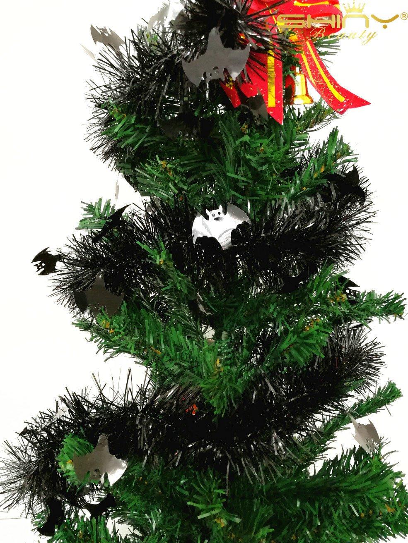 Amazon.com: 200cm long Black Tinsel Garland for Christmas Tree or ...