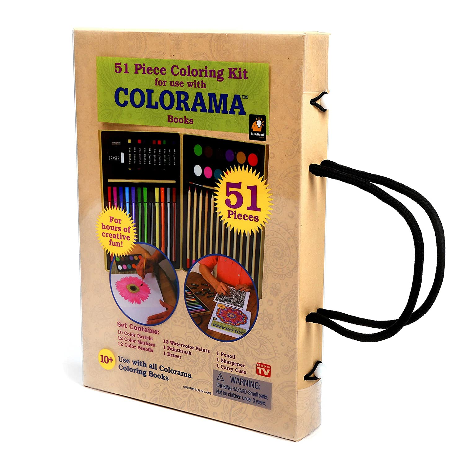 Colorama Colored Pencils - Color Kit with Case- 51pc Telebrands Corporation 6225767