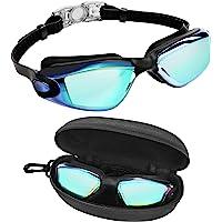 Bezzee Pro Gafas de Natación - gafas natacion antivaho Protección UV con Estuche de Almacenamiento – Herméticas y Correa…