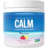 Natural Vitality Calm Plus Calcium, Magnesium Citrate Supplement Powder, Anti-Stress Drink Mix, Raspberry Lemon, 8 Ounces