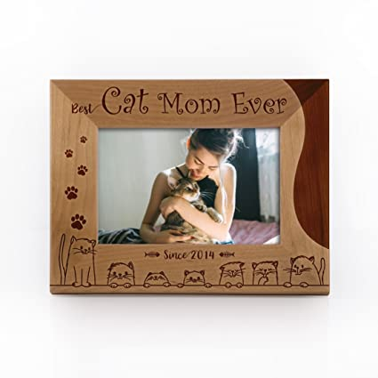Amazoncom Personalized Cat Picture Frame Best Cat Mom Ever Since