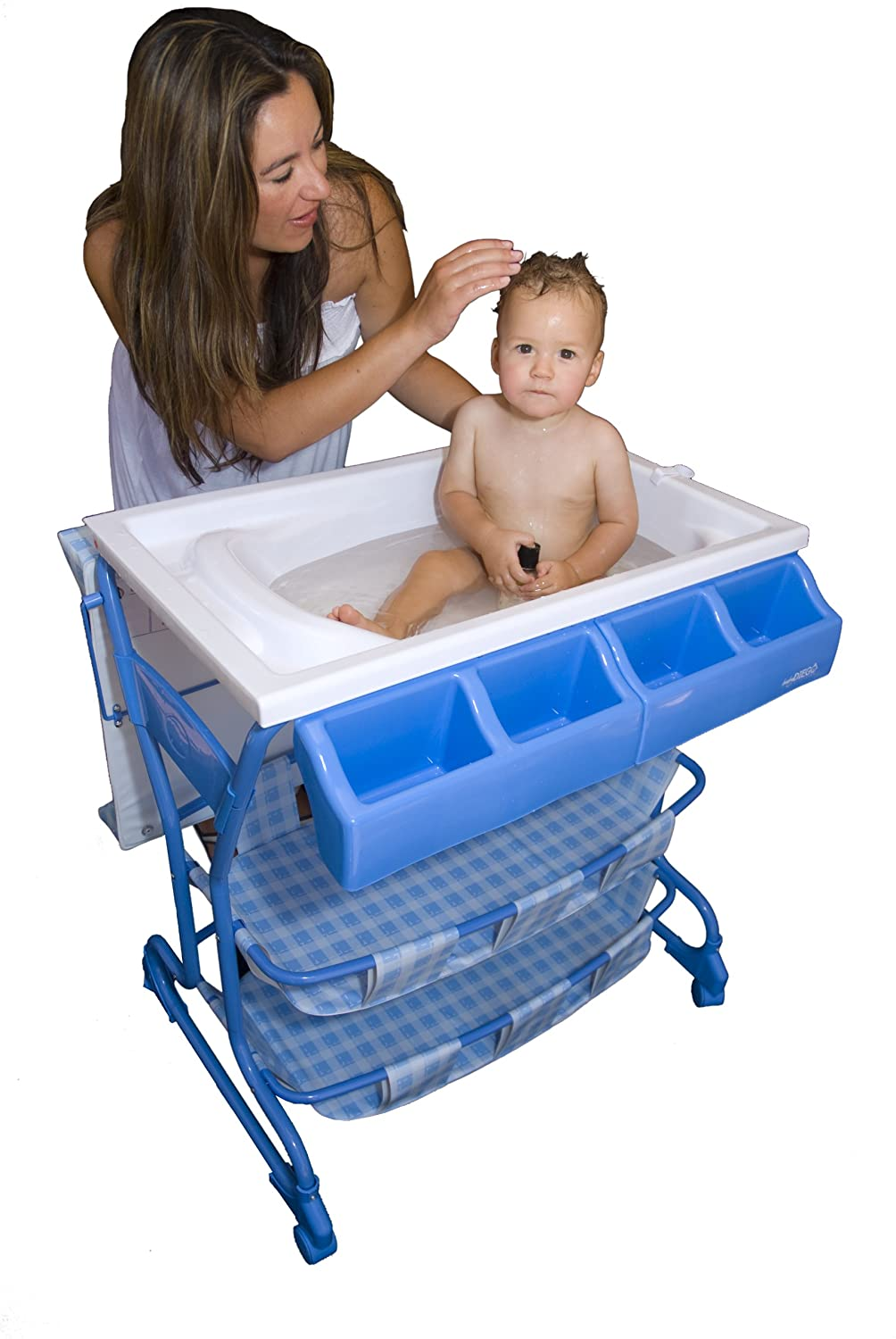 Baby Diego Bathinette Bath and Changer Combo, Blue and White: Amazon ...