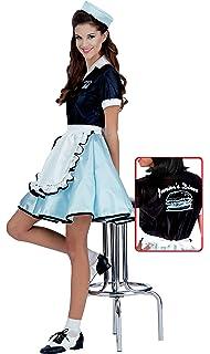 5e85609a63d70 Amazon.com: Rubies 50s Favorite Girls Car Hop Costume, Large , Multi ...
