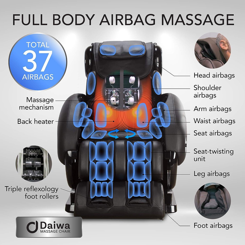 Daiwa Massage Chair Inversion Stretch Massage Chairs Relax 2 Zero 1.0 (Black)