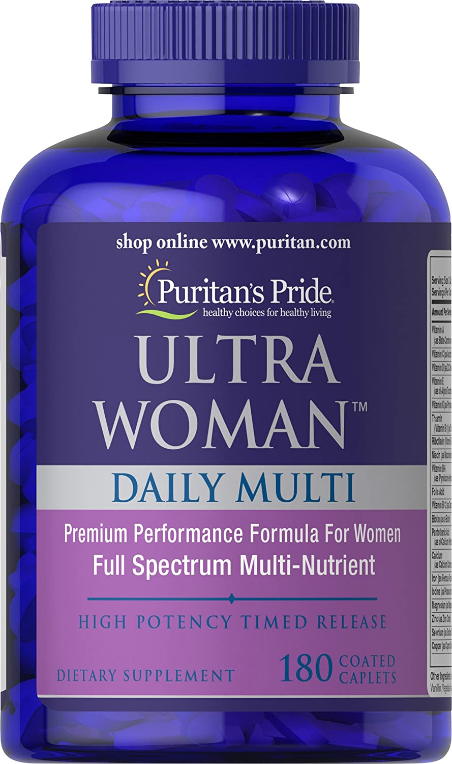 Puritans Pride Ultra Women Daily Multi Timed Release, 180 Count