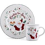 """Pfaltzgraff Winterberry """"Cookies And Milk For Santa"""" Set"""