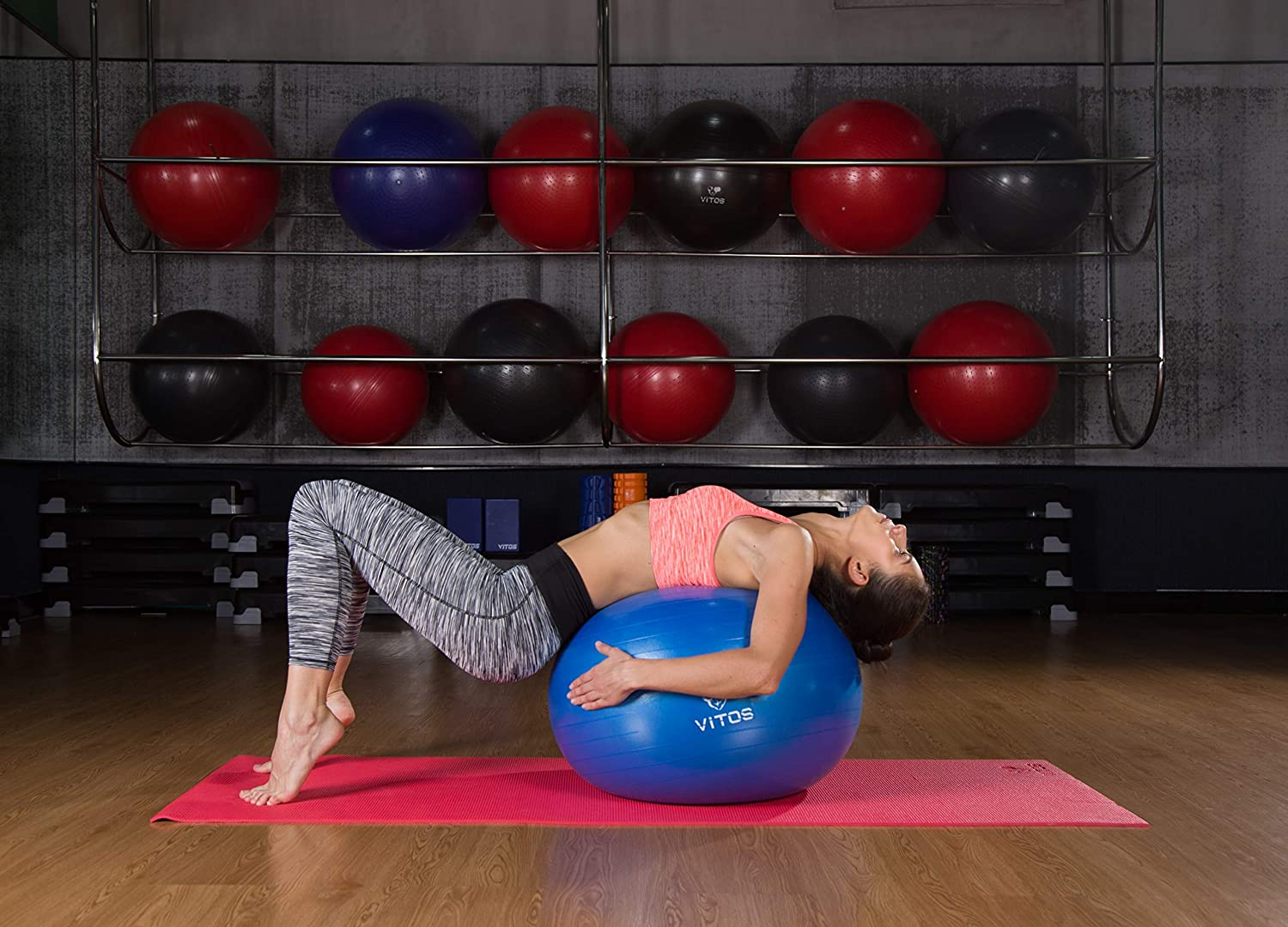 Anti Burst Stability Ball By Vitos FitnessNon Slip Supports 2200LB