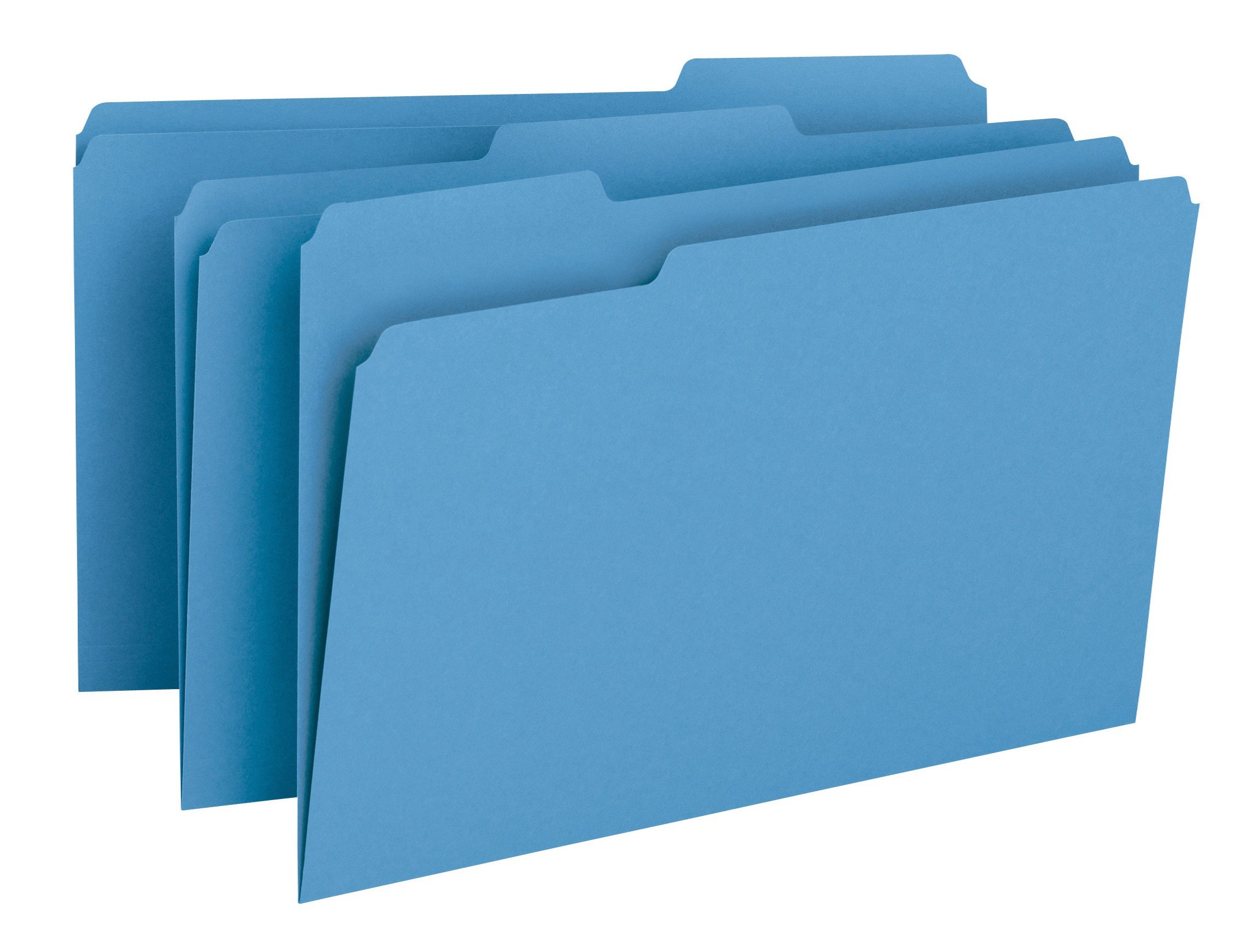 Smead File Folder, 1/3-Cut Tab, Legal Size, Blue, 100 per Box (17043)