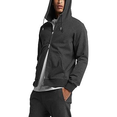 57fd0dcd2 NIKE Lab Essentials Full Zip Fleece Hoodie (Black Heather, Large)