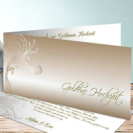 Einladungskarten Goldene Hochzeit Gestalten Frühlingsgefühle 25 Karten Horizontale Klappkarte 210x100 Inkl Weißer Umschläge Braun
