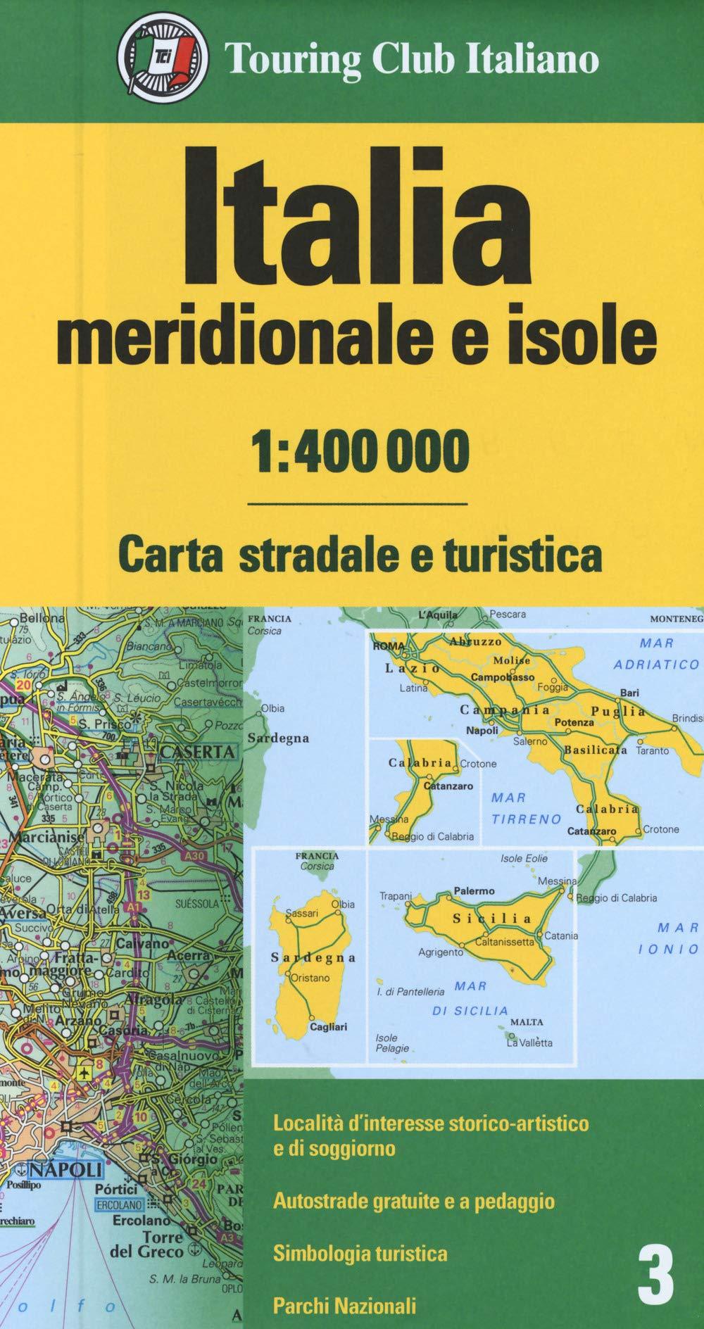 Cartina Stradale Italia Meridionale