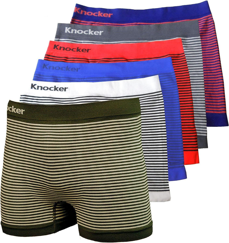 6pc Men Soft Microfiber Boxer Briefs Underwear Compression Knocker One Size Lot