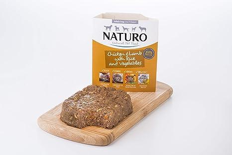 Naturo – Comida para Perros Adultos con Pollo, Cordero, arroz y Verduras – Paquete de 7 x 400 g – Total 2800 g