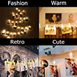 ACEIken Christmas Decoratio Supplies Party 20 Photo Clips String for Hanging Pictures Cards and Memos Ideal Gift for Dorms Bedroom Decoration Display