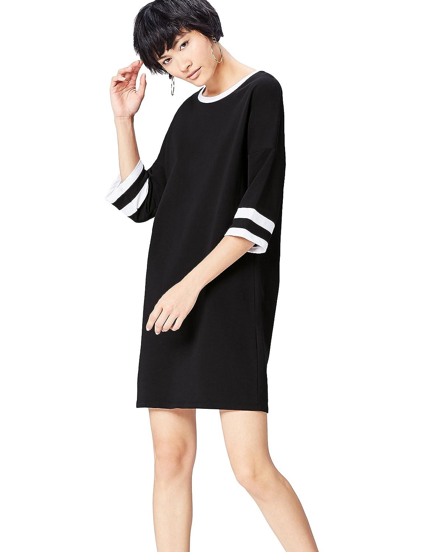 TALLA 36 (Talla del Fabricante: X-Small). find. Camiseta Ancha con Cuello Redondo Mujer