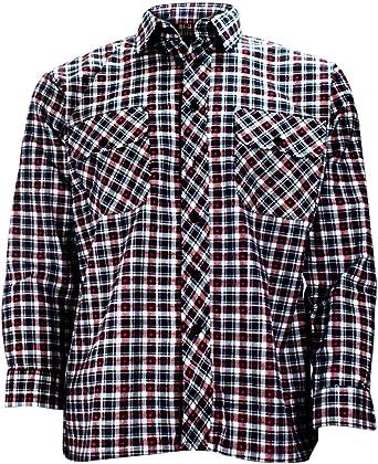 Camisa de leñador para chicos, algodón, franela, algodón cepillado, hasta talla 5XL multicolor Small Check M: Amazon.es: Ropa y accesorios