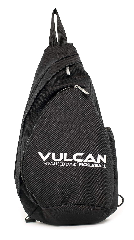 Vulcan スリングバッグ ブラックボール装備品 B07H8S2SNV ブラック|バルカン ピックルボール スリング ブラック
