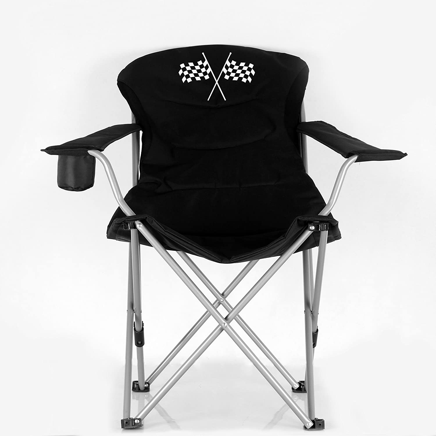 Stylish Camping Black/Flag Logo Folding Reclining Outdoor Sports Camping Chair 36029 : Sports & Outdoors