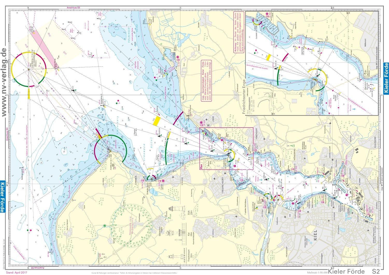 Kieler Bucht Karte.Nv Seekarte Die Kieler Förde Und Eckernförder Bucht Wasserfest