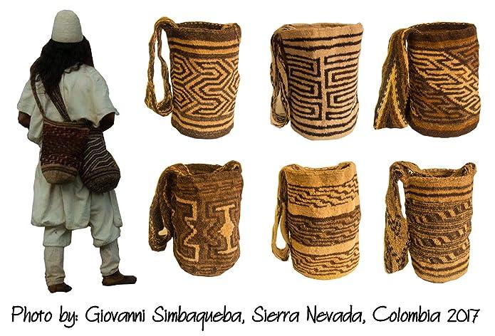 DAGUA 100% untreated wool indigenous bag mochila handmade by the Iku tribe in Sierra Nevada, Colombia. Undyed wool - fair trade - cruelty free ...
