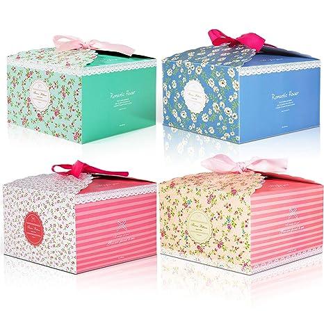 12pcs Cajas de regalo MOOKLIN Caja de dulces Caja de papel de galletas para la boda