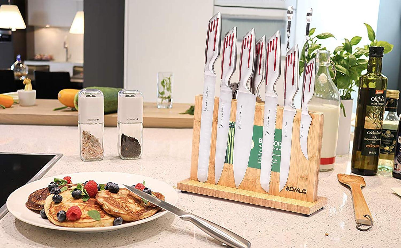 Amazon.com: Bloques de cuchillos de bambú, bloque de ...