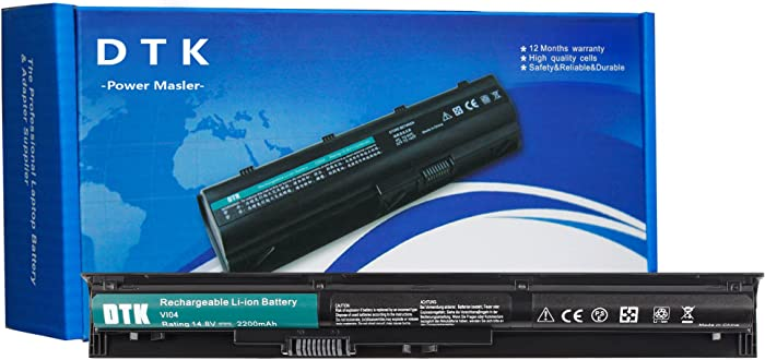 DTK VI04 756743-001 New Laptop Battery Replacement for HP ProBook 440 G2 / 445 G2 / 450 G2 / 455 G2 / HP Envy 14 15 17 Series/HP Pavilion 15 17 Series [14.8V 2200MAH] V104