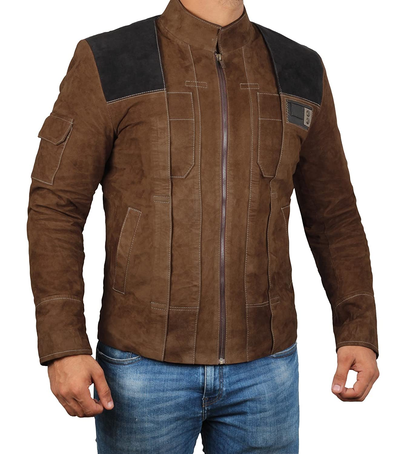 Decrum Suede Leather Jacket Men Brown Leather Jackets For Men At